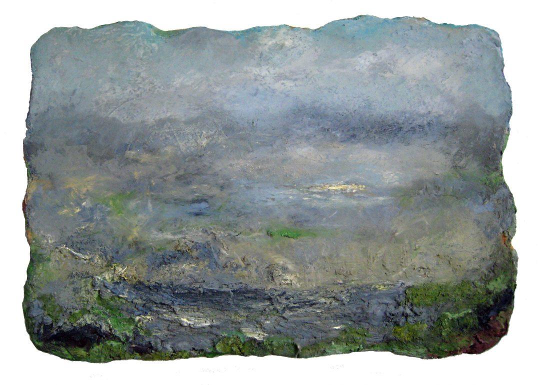 anne-manoli-peinture-2013-cire-emulsion-huile-sur-toile-76cmx113cm-ophelie-la-passagere-