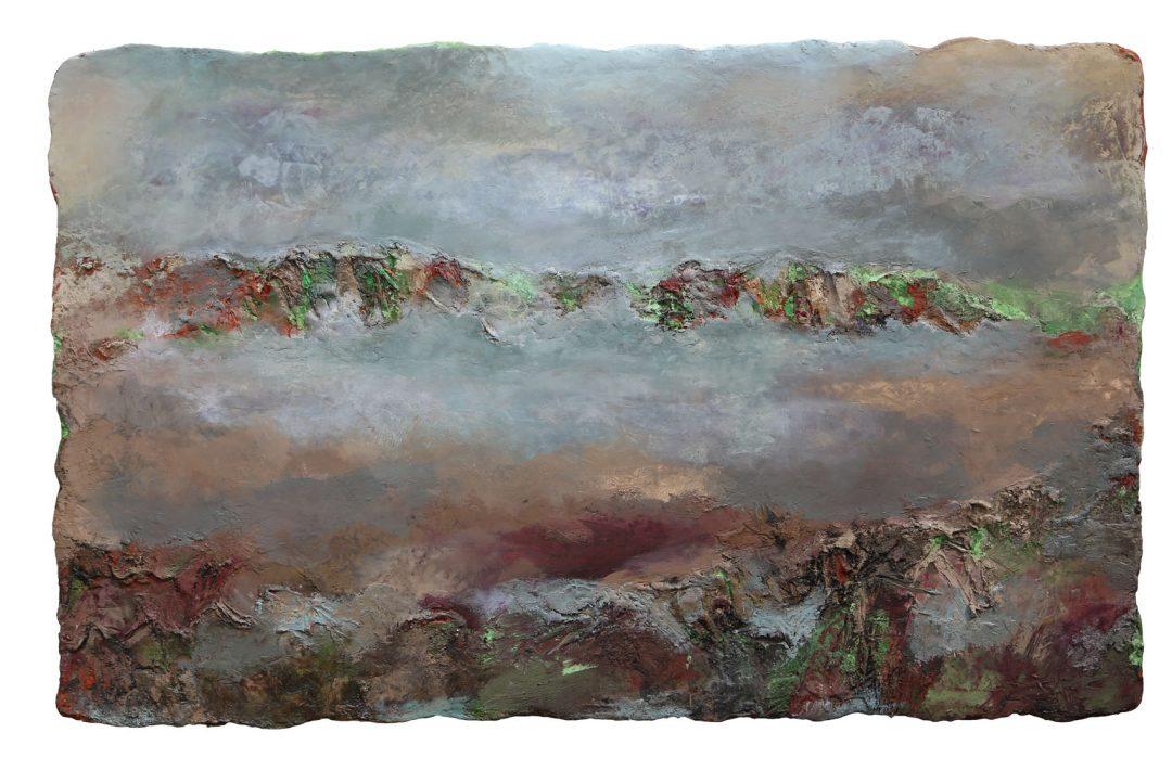 anne-manoli-peinture-2013-cire-emulsion-huile-sur-toile-128cmx205cm-la-passagere-