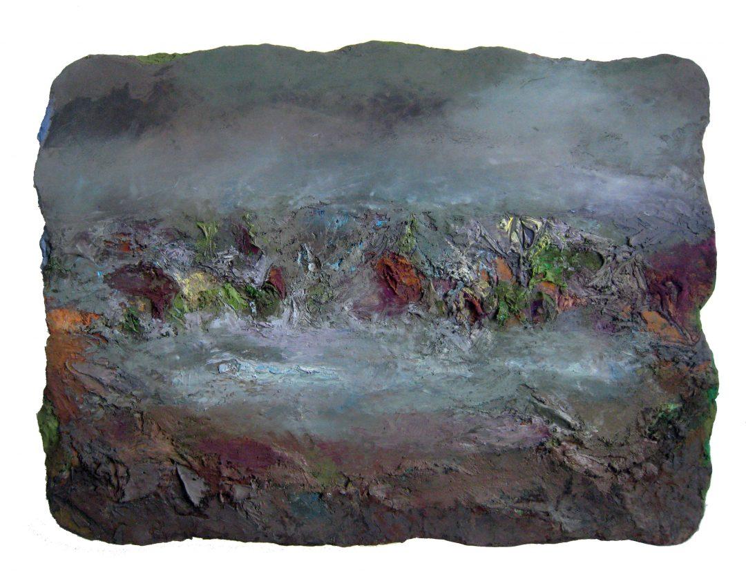 anne-manoli-peinture-2013-cire-emulsion-huile-sur-toile-93cmx140cm-la-passagere-