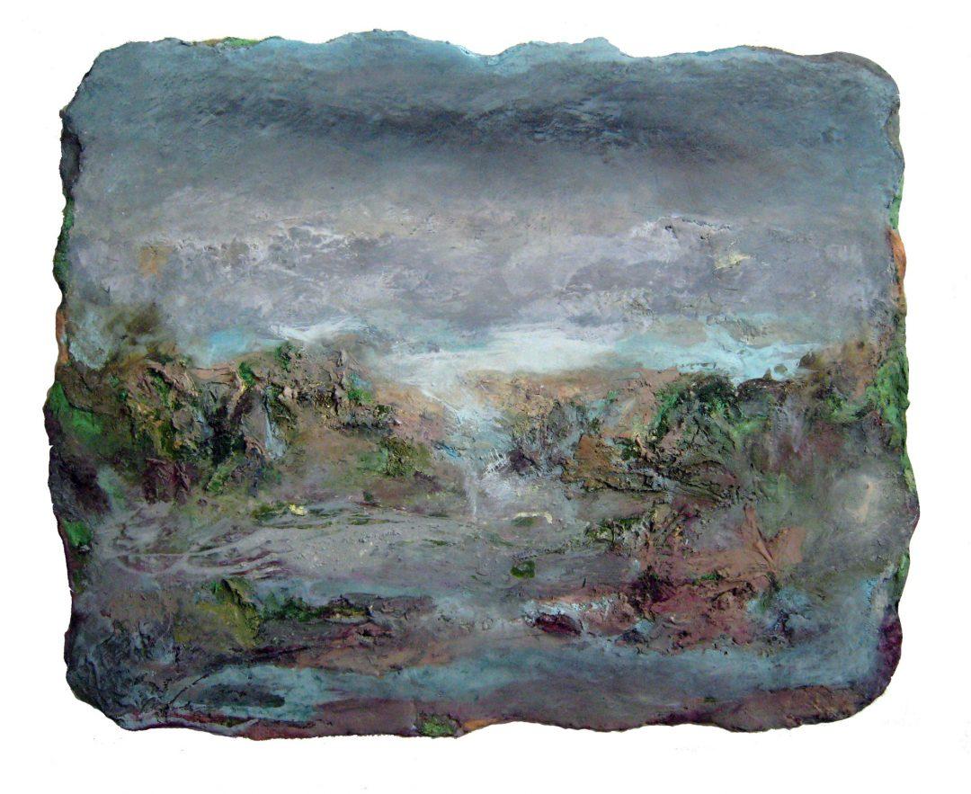 anne-manoli-peinture-2013-cire-emulsion-huile-sur-toile-84cmx106cm-la-passagere-collection-particuliere-