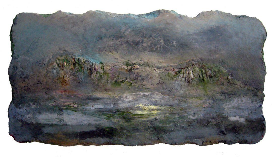 anne-manoli-peinture-2012-cire-emulsion-huile-sur-toile-56cmx109cm-ophelie-la-passagere-collection-particuliere-