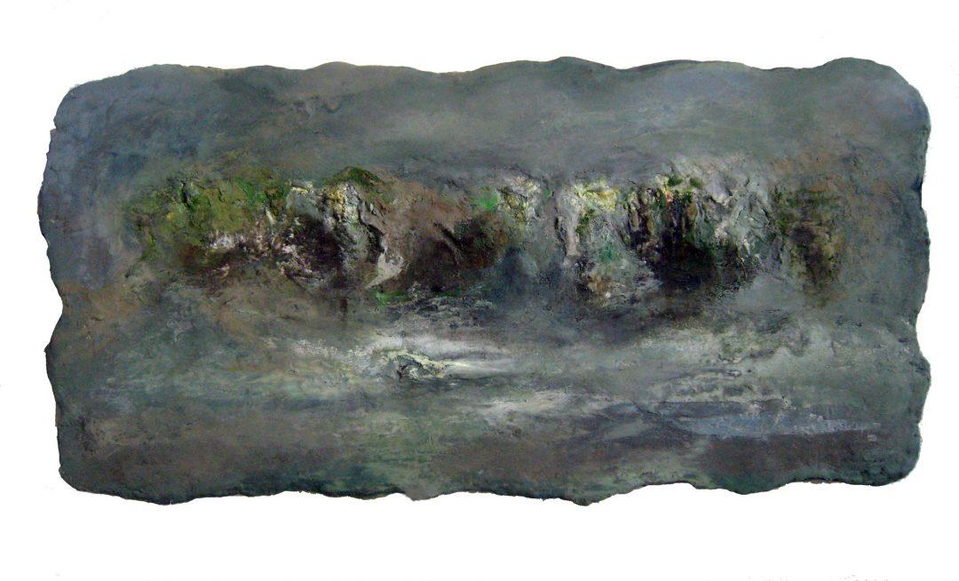 anne-manoli-peinture-2012-cire-emulsion-huile-sur-toile-54cmx108cm-ophelie-la-passagere-