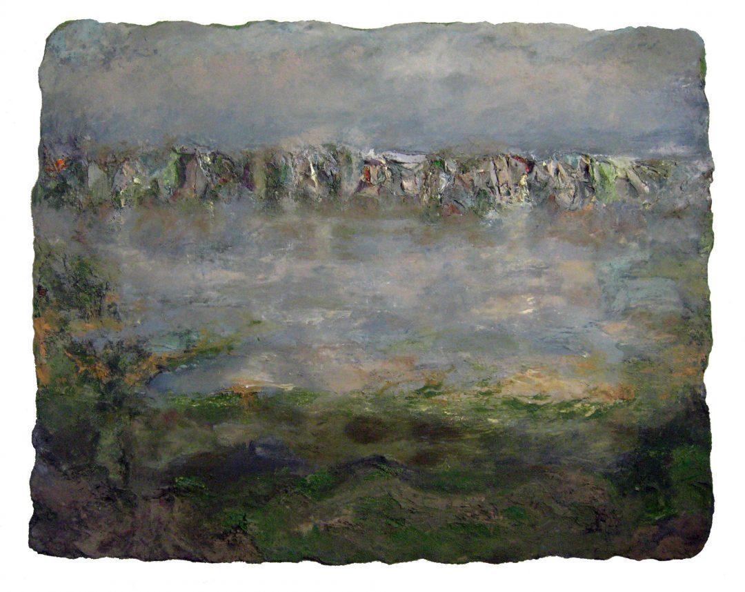 anne-manoli-peinture-2011-cire-emulsion-huile-sur-toile-160cmx200cm-la-passagere-