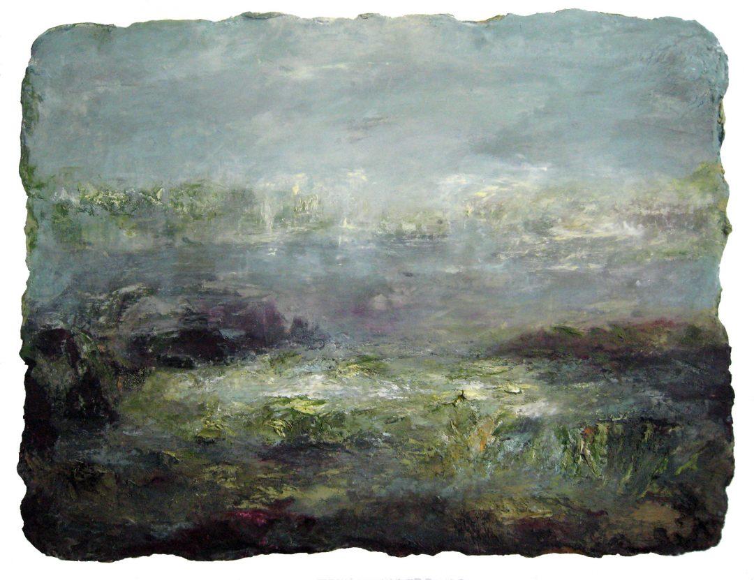 anne-manoli-peinture-2011-cire-emulsion-huile-sur-toile-110cmx144cm-ophelie-la-passagere-collection-particuliere-