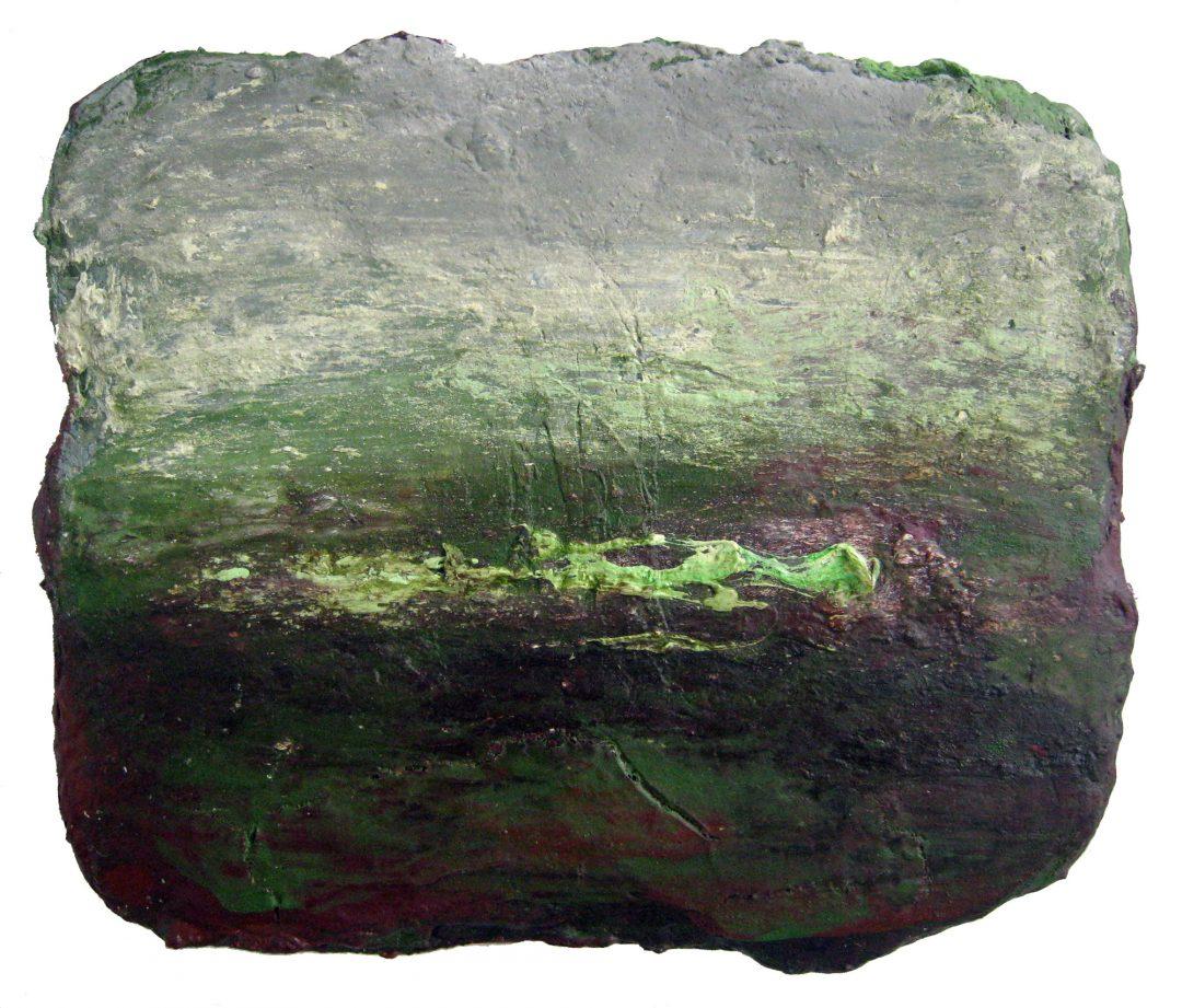 anne-manoli-peinture-2011-cire-emulsion-huile-sur-toile-26cmx31cm-ophelie-la-passagere-collection-particuliere-