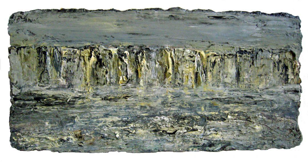 anne-manoli-peinture-2009-emulsion-huile-sur-toile-50cmx102cm-vert-presque-tendre-collection-particuliere