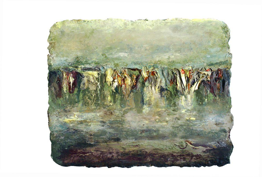 anne-manoli-peinture-2010-emulsion-huile-sur-toile-55cmx68cm-vert-presque-tendre-collection-particuliere