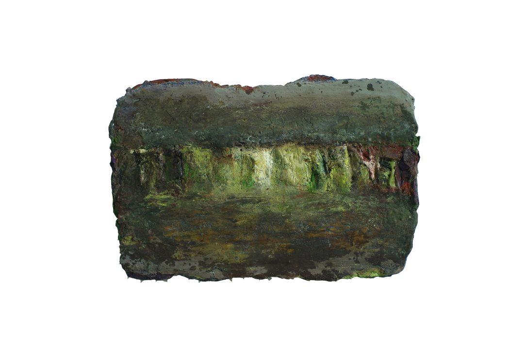 anne-manoli-peinture-2010-cire-emulsion-huile-sur-toile-27cmx39cm-vert-presque-tendre-collection-particuliere