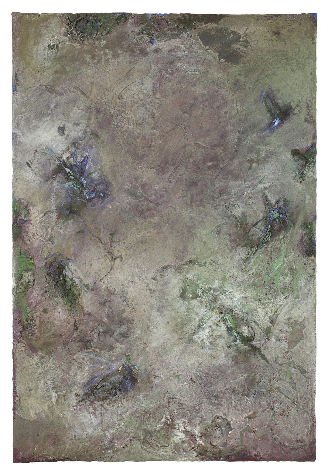 anne-manoli-2018-peinture-huile-emulsion-et-cire-sur-toile-200cmx133cm-serie-les-moires-galerie-nicolas-deman-paris-