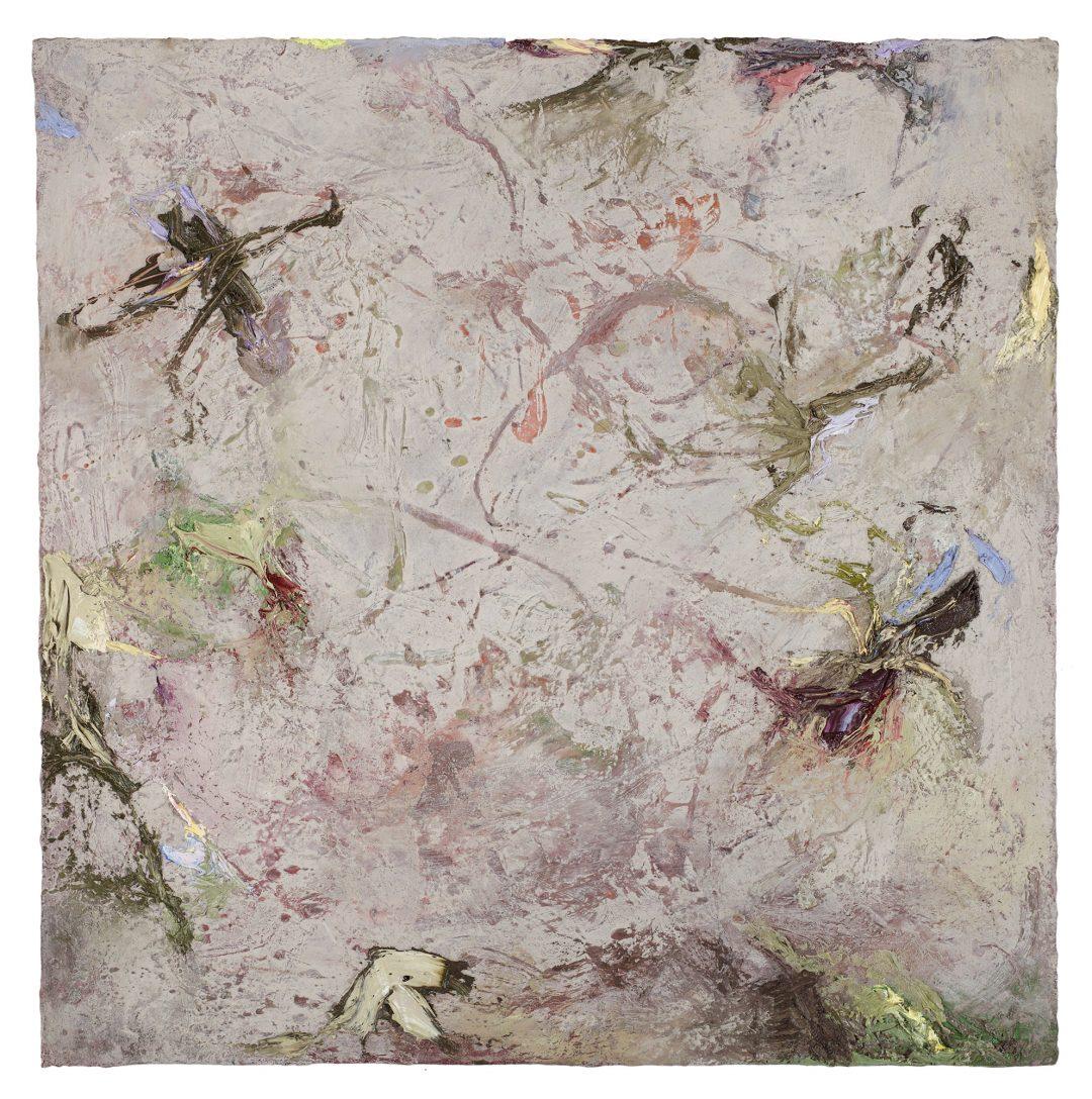 anne-manoli-2018-peinture-huile-emulsion-et-cire-sur-toile-83cmx83cm-serie-les-moires-galerie-nicolas-deman-paris-