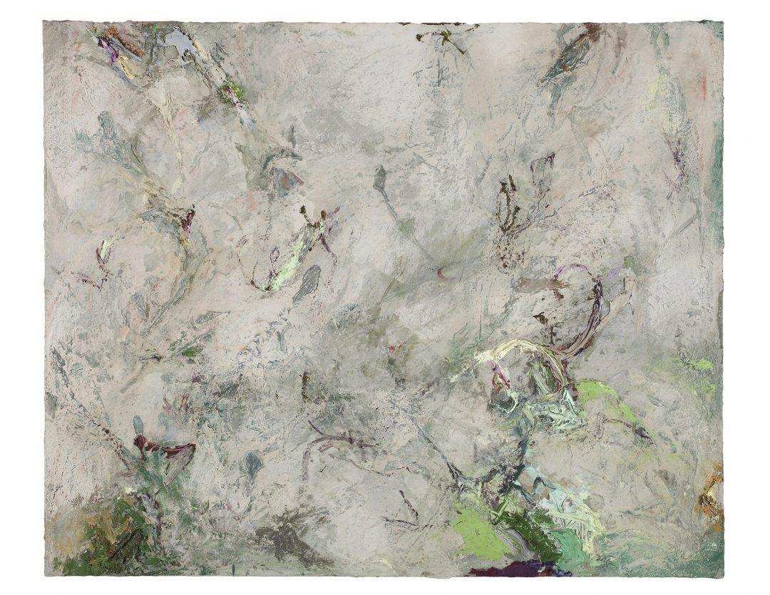 anne-manoli-2018-peinture-huile-emulsion-et-cire-sur-toile-83cmx103cm-serie-les-moires-galerie-nicolas-deman-paris-collection-particulière