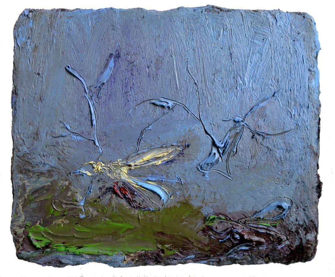 anne-manoli-peinture-2016-huile-cire-et-émulsion-sur-toile-44cm-x-54cm-serie-le-banquet-des-nymphes-galerie-nicolas-deman-paris-collection-particuliere-